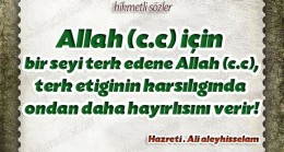 Allah (c.c) için terk et!